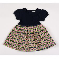 G3281: Girls Cotton Lined All Over Print Dress (1-2 Years)