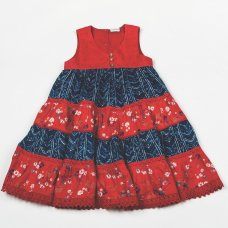 H5765: Girls Cotton Lined Fashion Dress (3-8 Years)