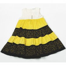 H5767: Girls Cotton Lined Fashion Dress (3-8 Years)