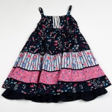 H5768: Girls Cotton Lined Fashion Dress (3-8 Years)