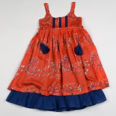 H5770: Girls Cotton Lined Fashion Dress (3-8 Years)