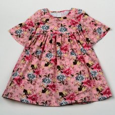 H5816: Girls Floral Lined Dress (3-8 Years)