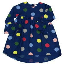 L5202: Girls All Over Spots Lined Dress (3-8 Years)
