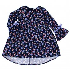 L5203: Girls All Over Floral Cotton Lined Dress (3-8 Years)