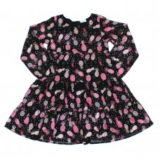 L5204: Girls All Over Print Cotton Lined Dress (3-8 Years)