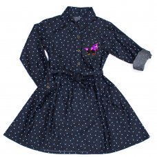 L5212: Girls All Over Stars Fashion Dress (3-8 Years)