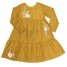 L5213: Girls Cotton Lined Fashion Dress (3-8 Years)