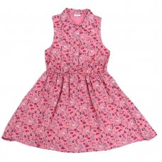 L5220: Girls All Over Print Cotton Lined Dress (3-8 Years)