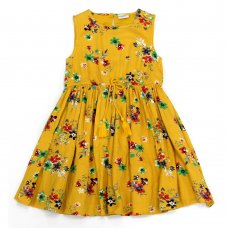 L5221: Girls All Over Print Cotton Lined Dress (3-8 Years)