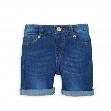 DSHORT 3P: Mid Blue Denim Short (8-13 Years)