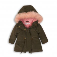 Deer 6P: Parka Jacket With Contrast Fur Hood (12-24 Months)