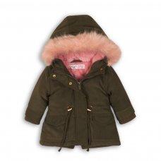 Deer 6P: Parka Jacket With Contrast Fur Hood (12-24 Months)