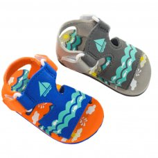 E162: Nautical Print EVA Sandals (9-18 Months)