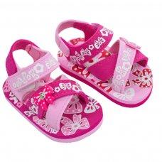 E172: Bow Print w/Bow Patch EVA Sandals (9-18 Months)
