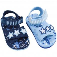 E173: Rockstar Print EVA Sandals w/Star Patch (15-24 Months)