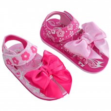 E176: Butterfly Print w/Tied Bow EVA Sandals (15-24 Months)