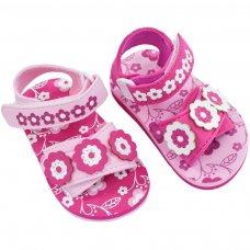 E181: Flower Print EVA Sandals (9-18 Months)