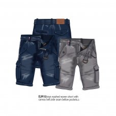 Elm 10: Washed Canvas Short With Belt (3-8 Years)