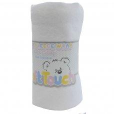 FBP05-BP-W: Embossed Baby Wraps (Bulk Pack - White)