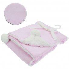 FBP190-P: Pink Wrap w/Print & Pom Pom