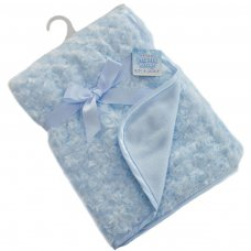 FBP66-B: Blue Rose Pv Baby Fleece Wrap