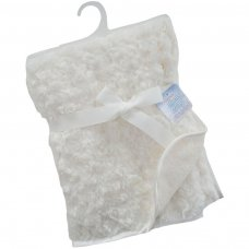 FBP66-C: Cream Rose Pv Baby Fleece Wrap