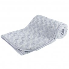 FBP66-G: Grey Rose Pv Baby Fleece Wrap