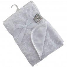 FBP66-W: White Rose Pv Baby Fleece Wrap
