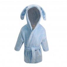 FBR13-B: Plain Blue Dressing Gown w/Ears (6-24 Months)