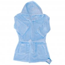 FBR17-B: Plain Blue Dressing Gown (2-6 Years)