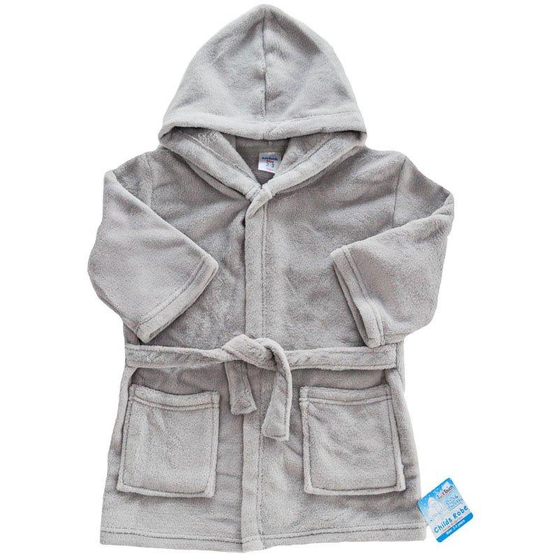 FBR17-G: Plain Grey Dressing Gown (2-6 Years)