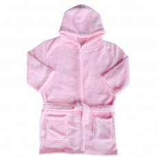 FBR17-P: Plain Pink Dressing Gown (2-6 Years)