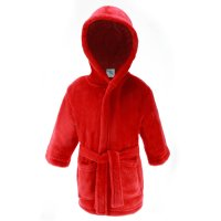 FBR17-R: Plain Red Dressing Gown (2-6 Years)