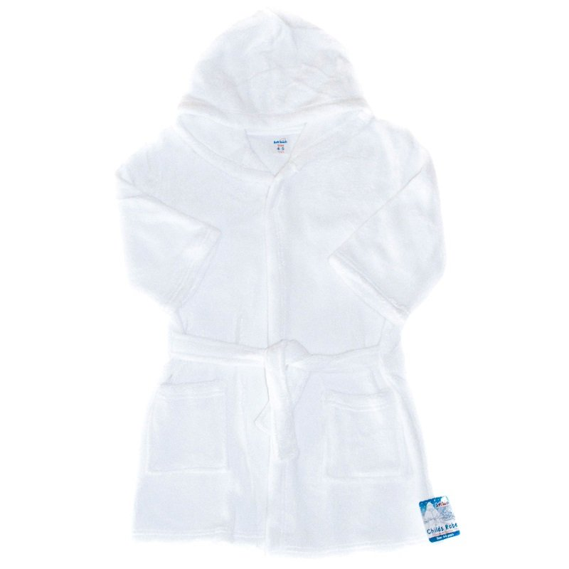 FBR17-W: Plain White Dressing Gown (2-6 Years)