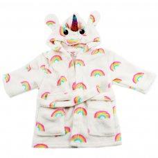 FBR30: Unicorn Fleece Hooded Robe (6-24 Months)