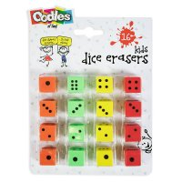 FN2473: 16 Pack Dice Eraser