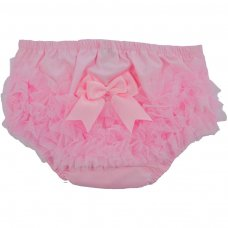 FP12-P: Pink Cotton Frilly Pants (NB-18 Months)