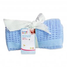FS193-B: Cellular Baby Blanket 70cm x 90cm (Blue Only)