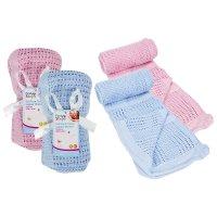 FS193: Cellular Baby Blanket 70cm x 90cm