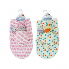 FS485: Super Soft Swaddle Blanket with Comforter