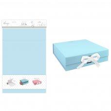 FS593: Medium Blue Matt Gift Box w/Ribbon