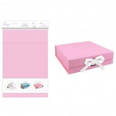 FS594: Medium Pink Matt Gift Box w/Ribbon