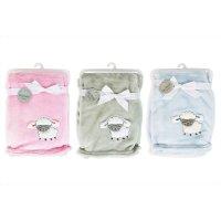 FS614: 3D Soft Flannel Fleece Baby Blanket