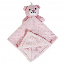 FS691: Soft Double Sided Baby Comforter Blanket (Pink Only)