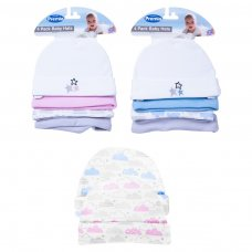 FS709: Baby 4pk Cotton Hat