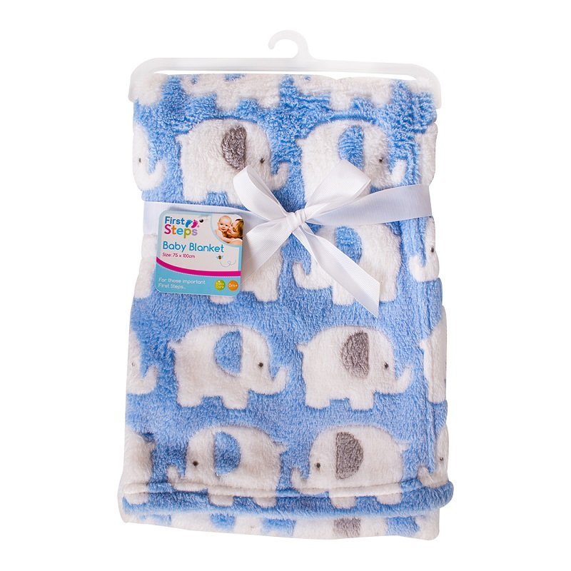 FS716: Supersoft Elephant Fleece Baby Blanket