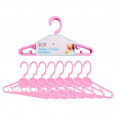 FS731: 8 Pink Baby Clothes Hangers