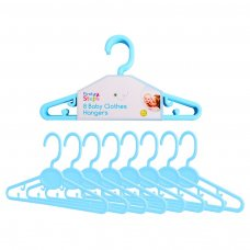 FS732: 8 Blue Baby Clothes Hangers