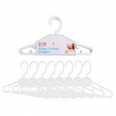 FS733: 8 White Baby Clothes Hangers