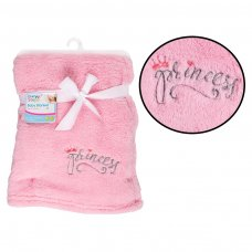 FS736: Supersoft Princess Fleece Baby Blanket